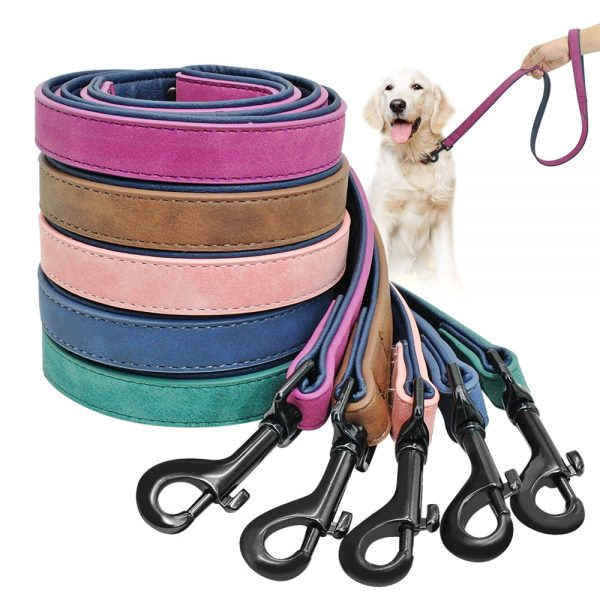 Dog-Leash-Harness-Leather-Lead-Pet-Dog-Puppy-Walking-Running-Leashes-Training-Rope-Belt-For-Small