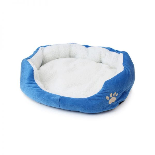Pet-Cushion-Bed Blue